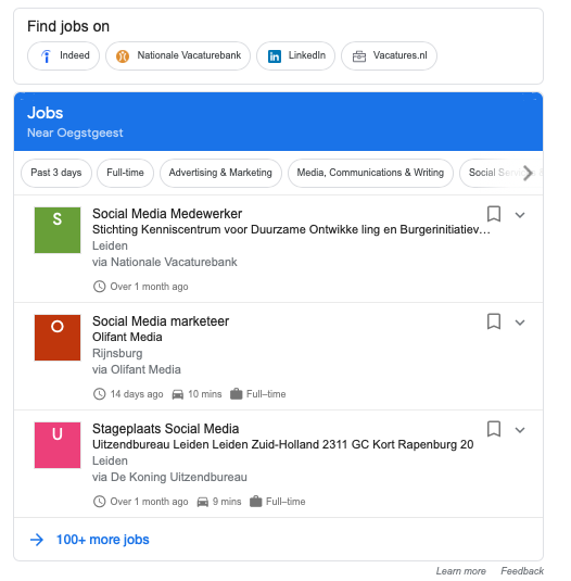 <p>Google for Jobs in Nederland.Zó wordt jouw vacature goed gevonden</p>