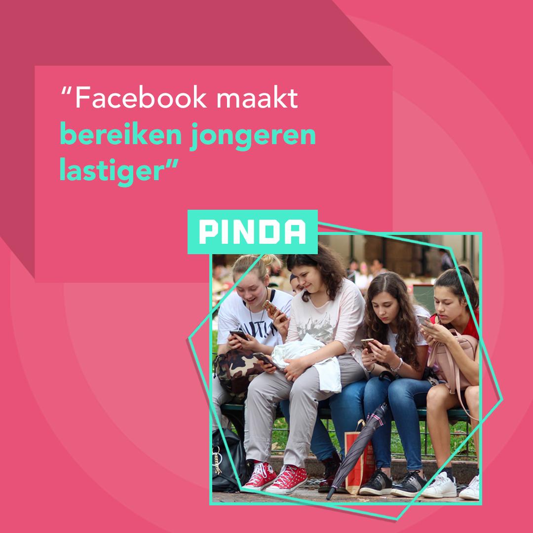 Facebook maakt bereiken jongeren lastiger