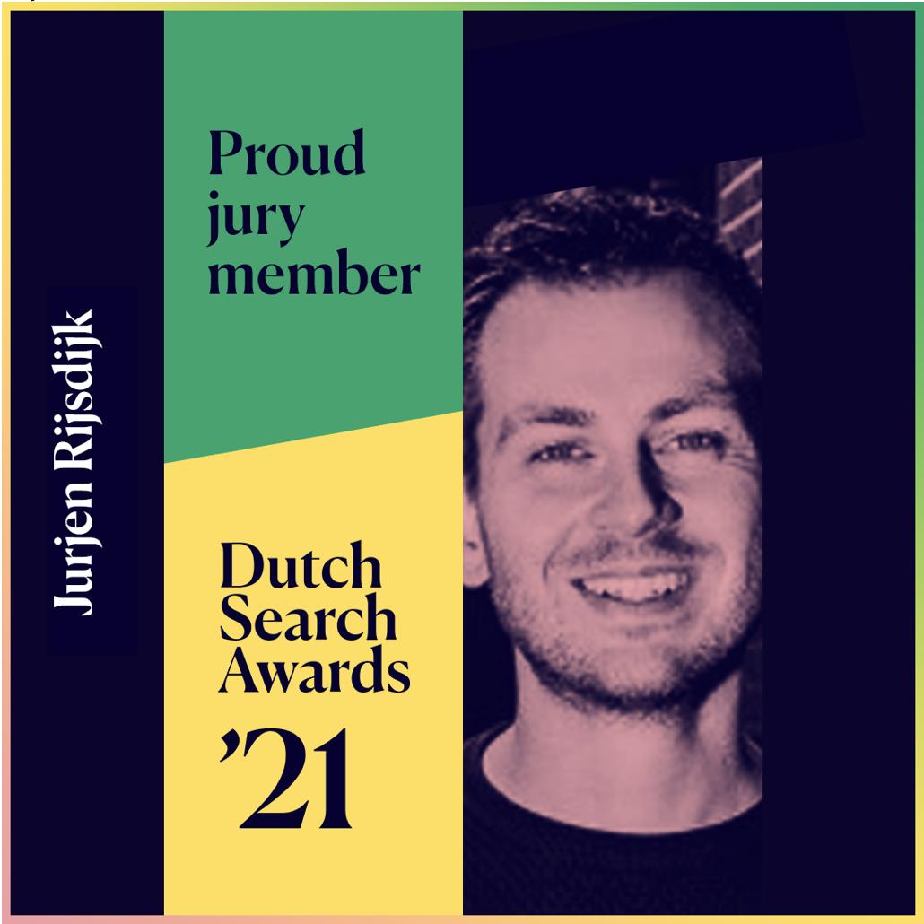 Jurjen jurylid Dutch Search Awards 2021!